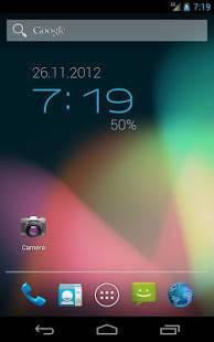 「ClockQ - Digital Clock Widget」のスクリーンショット 1枚目