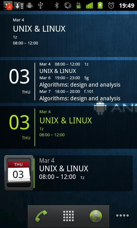 「Simple Calendar Widget」のスクリーンショット 2枚目