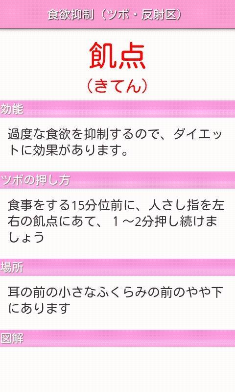 「つぼダイエット1.2.3」のスクリーンショット 3枚目