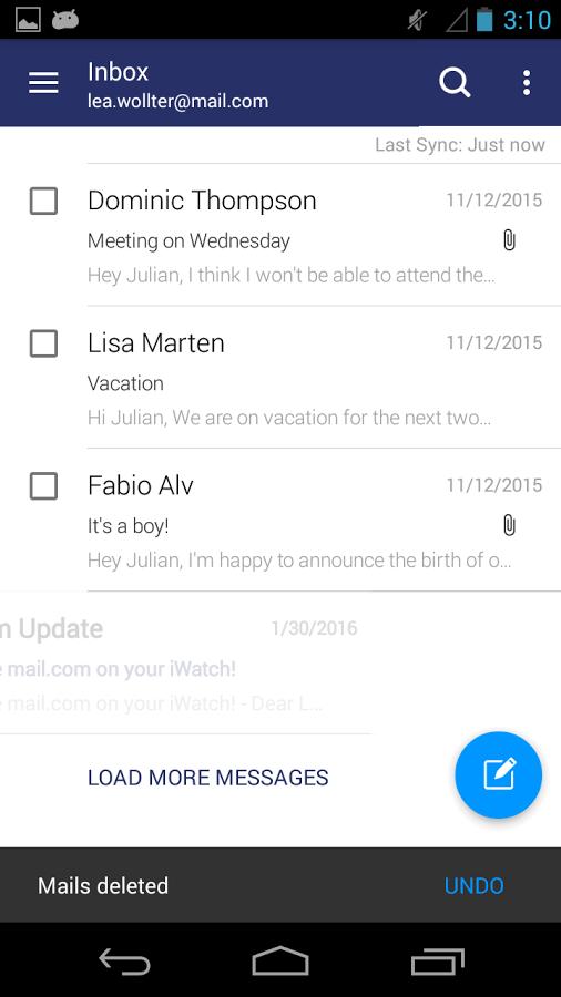 「mail.com mail」のスクリーンショット 2枚目