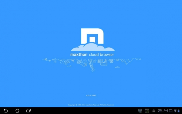 「Maxthon Browser for Tablet」のスクリーンショット 1枚目