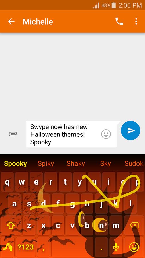 「Swype Keyboard Trial」のスクリーンショット 1枚目