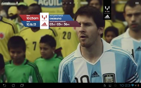 「Official Messi Live Wallpaper」のスクリーンショット 1枚目