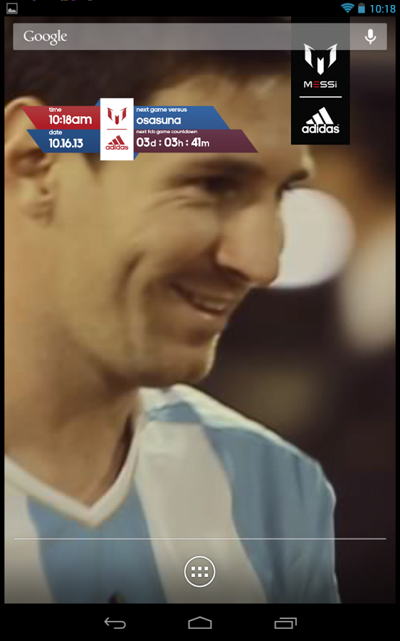 「Official Messi Live Wallpaper」のスクリーンショット 2枚目
