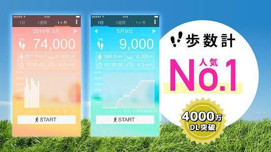 「歩数計 - 無料の人気ウォーキングアプリ」のスクリーンショット 1枚目