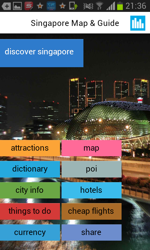 「シンガポールオフラインマップ&ガイド」のスクリーンショット 1枚目