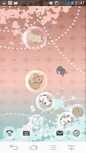 「ねこバブルライブ壁紙」のスクリーンショット 3枚目