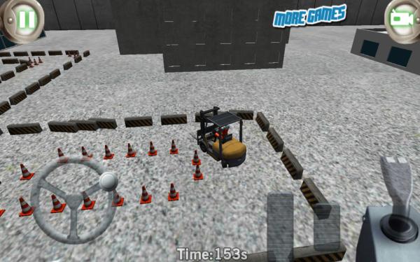 「3Dフォークリフト駐車狂気」のスクリーンショット 2枚目