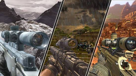 「Mountain Sniper Shooting: 3D FPS」のスクリーンショット 2枚目