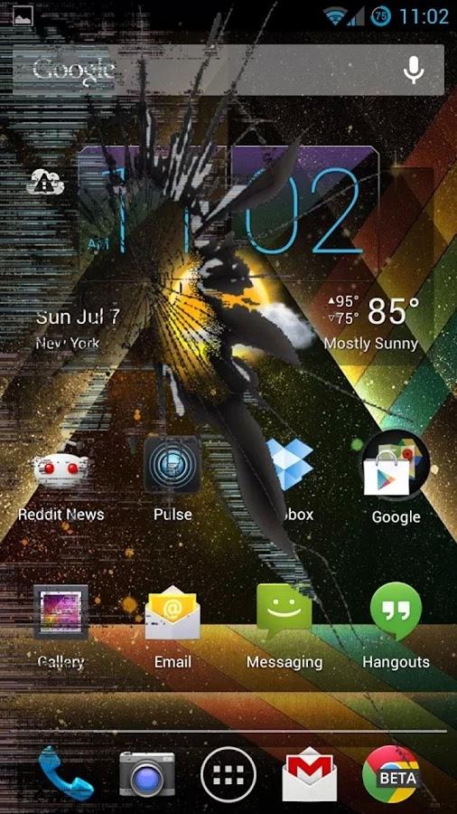 「ひびの入った画面最高のいたずらアプリ」のスクリーンショット 1枚目