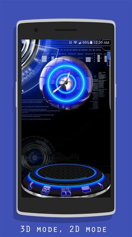 「Blue Krome iconpack Next Theme」のスクリーンショット 1枚目