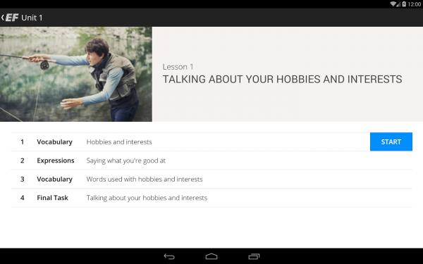 「EF English Live for tablets」のスクリーンショット 3枚目