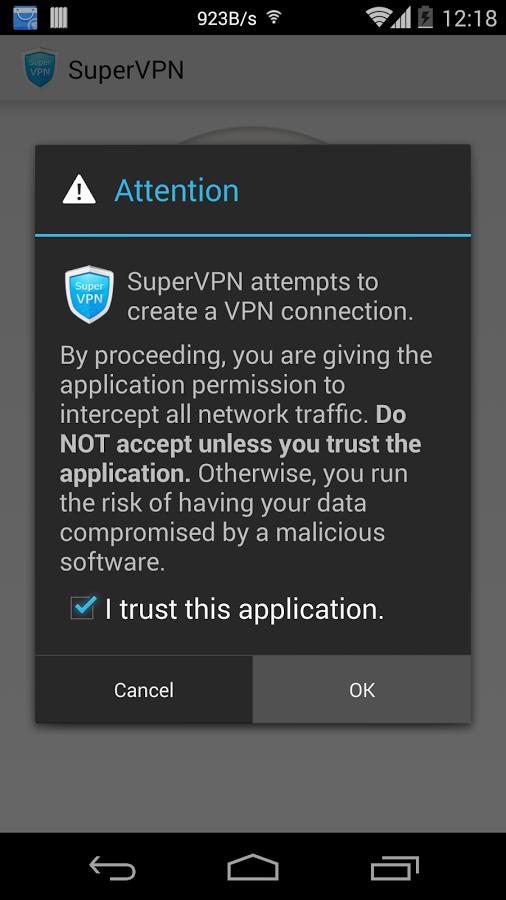 「SuperVPN Free VPN Client」のスクリーンショット 2枚目