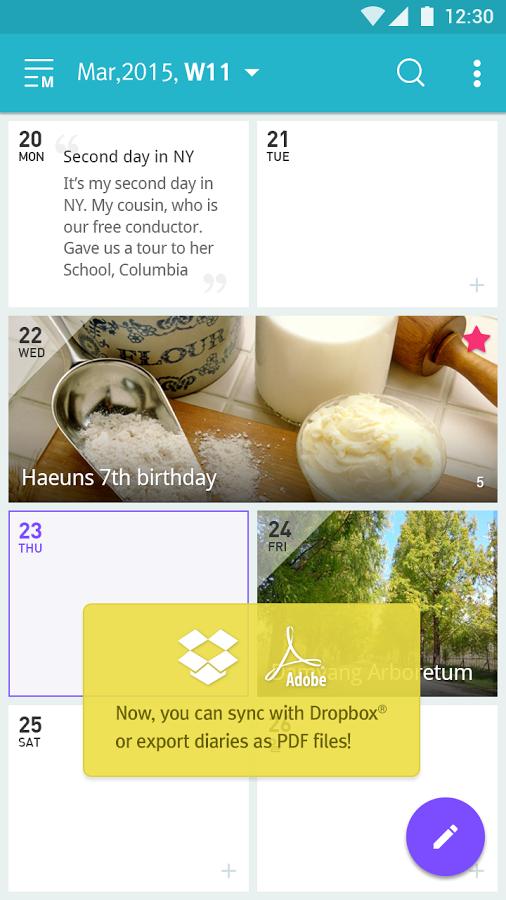 「7Days - Journal & Diary」のスクリーンショット 1枚目