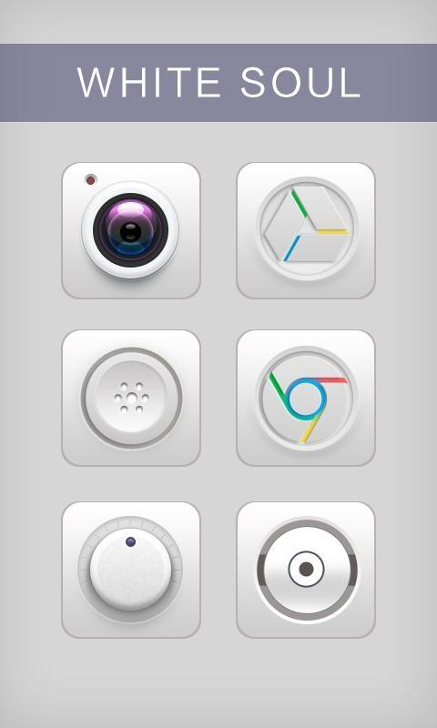 「White Soul GO Launcher Theme」のスクリーンショット 1枚目