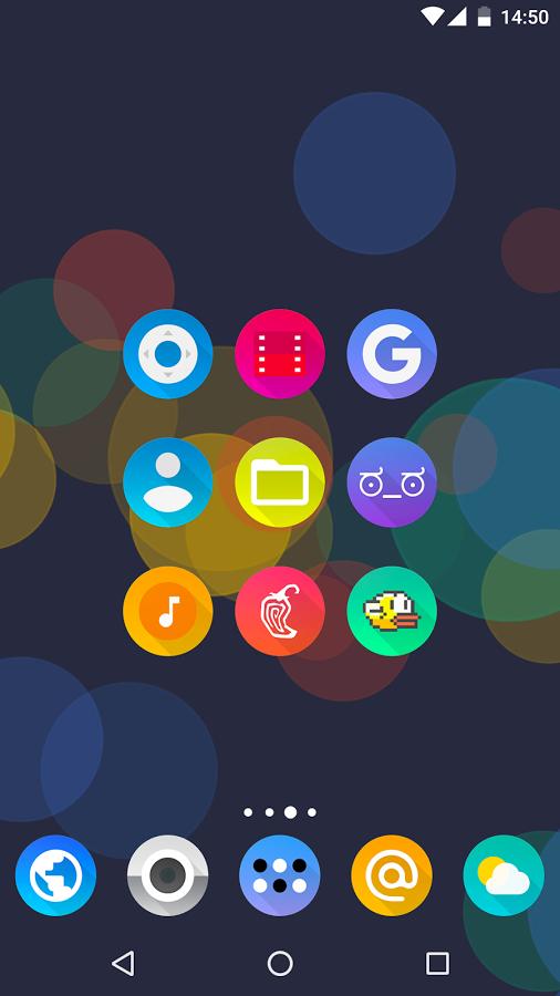 「Aurora UI - Icon Pack」のスクリーンショット 1枚目
