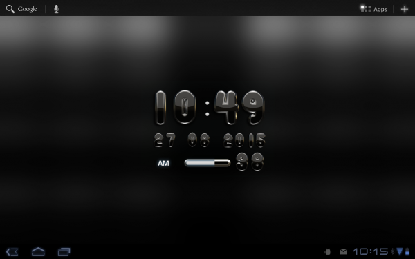 「デジタル時計黒ウィジェット」のスクリーンショット 2枚目