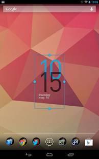 「Minimal Clock Widget」のスクリーンショット 1枚目