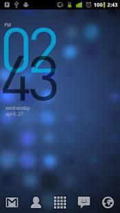「Minimal Clock Widget」のスクリーンショット 2枚目
