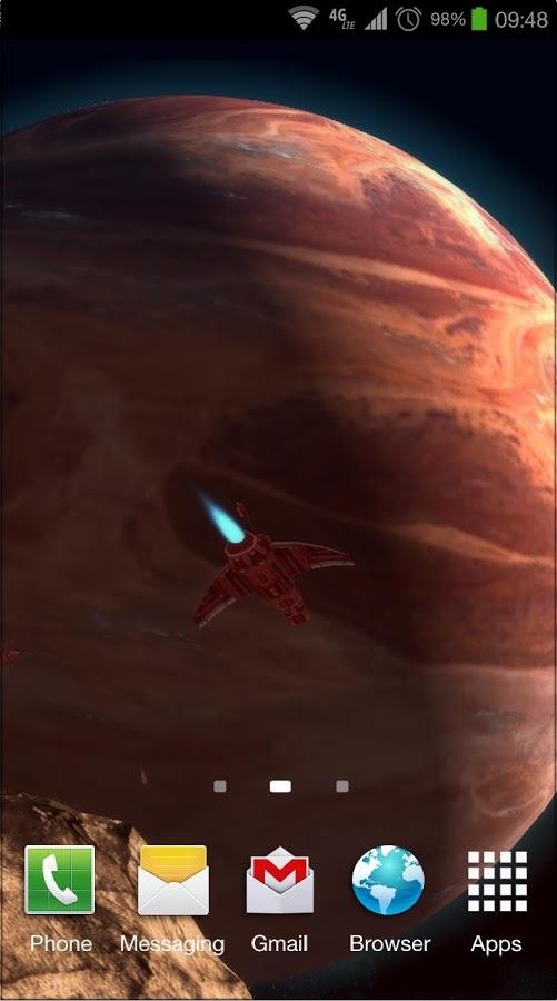 「Planetscape 3D Live Wallpaper」のスクリーンショット 2枚目