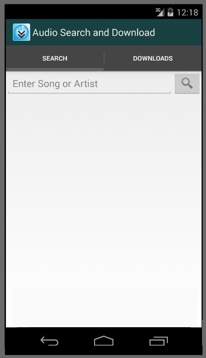 「音楽検索とダウンロード」のスクリーンショット 1枚目