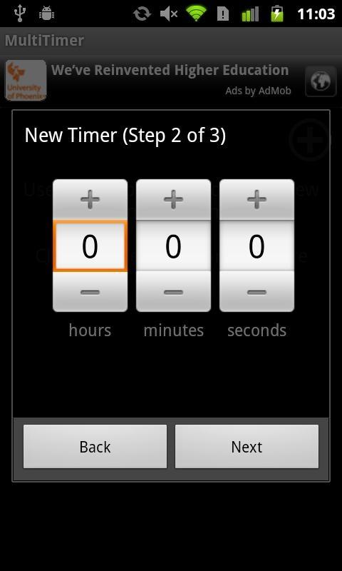 「MultiTimer (plus widget)」のスクリーンショット 1枚目