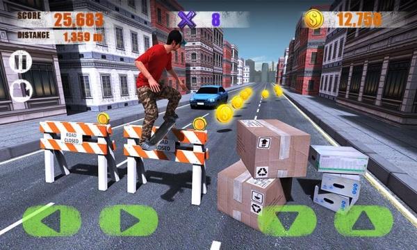 「Street Skater 3D」のスクリーンショット 2枚目
