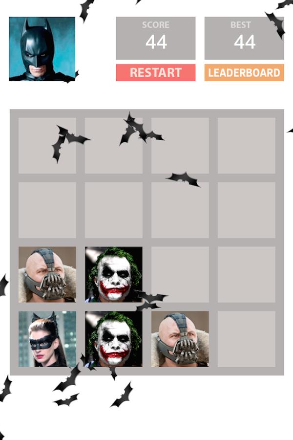 「2048: Batman Edition」のスクリーンショット 1枚目