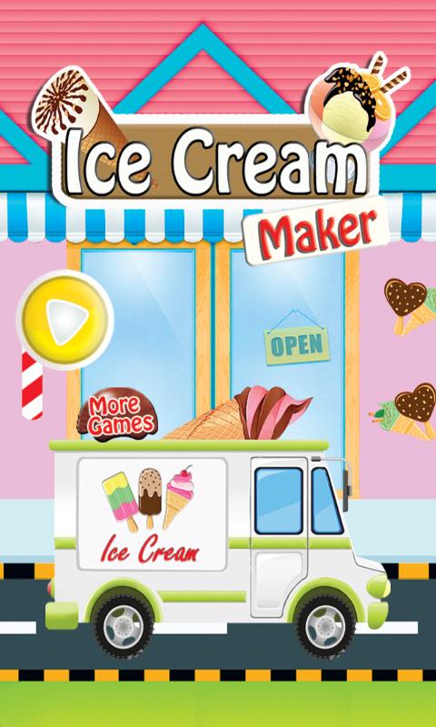 「アイスクリームメーカー女の子ゲーム」のスクリーンショット 1枚目