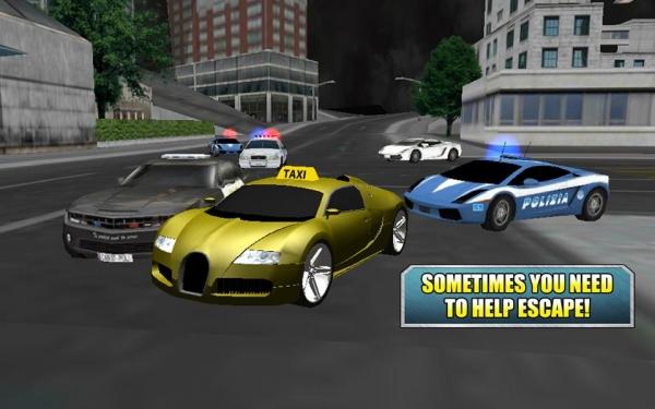 「クレイジードライバータクシーデューティ3D」のスクリーンショット 2枚目