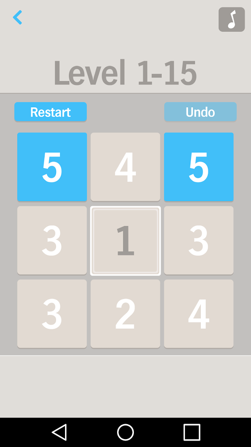 「One by One Number puzzle game」のスクリーンショット 2枚目