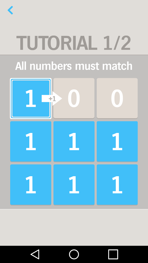 「One by One Number puzzle game」のスクリーンショット 1枚目