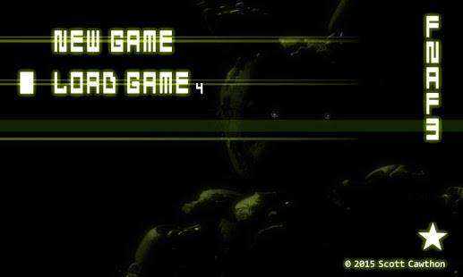 「Five Nights at Freddy's 3 Demo」のスクリーンショット 1枚目