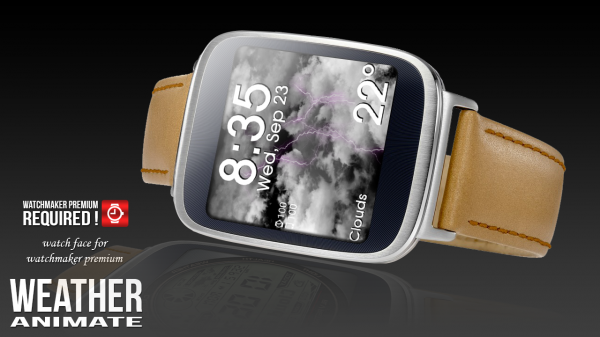 「Weather Animate for Watchmaker」のスクリーンショット 3枚目