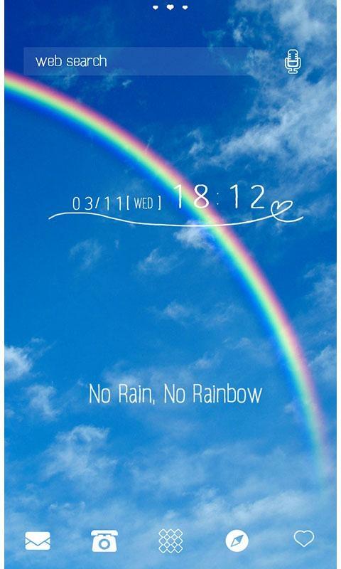 「可愛い壁紙・アイコン*No Rain, No Rainbow」のスクリーンショット 1枚目