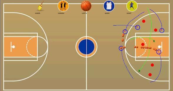 「戦術的なボード - バスケットボール」のスクリーンショット 1枚目