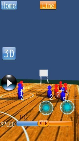 「バスケットボール 戦略ボード Mini」のスクリーンショット 1枚目