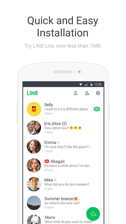 「LINE Lite - 無料メール」のスクリーンショット 1枚目