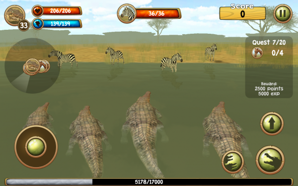 「Wild Crocodile Simulator 3D」のスクリーンショット 2枚目