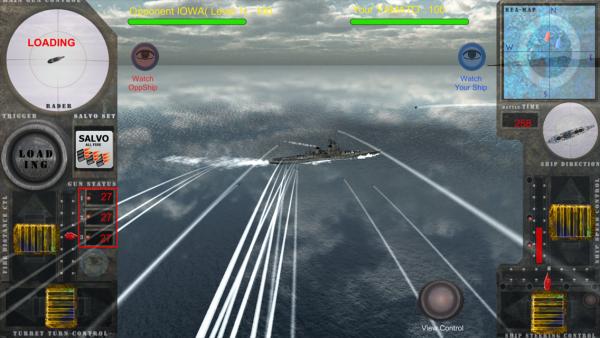 「戦艦決闘空間V3 戦艦大和 vs アイオワ 一騎打ち」のスクリーンショット 3枚目