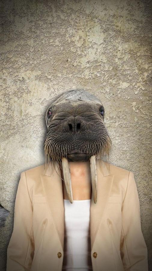 「動物の顔自分撮りのフォトエディタ」のスクリーンショット 3枚目