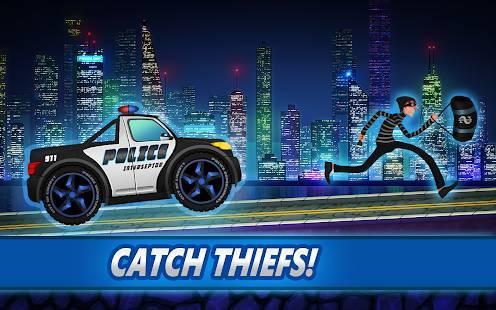 「Police car racing for kids」のスクリーンショット 1枚目