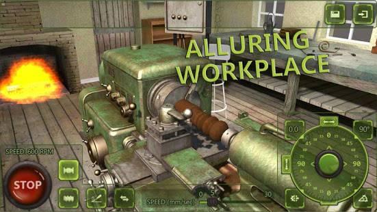 「Lathe Machine 3D:フライス盤・旋盤加工シミュレーションゲーム」のスクリーンショット 1枚目