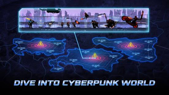 「Cyber Fighters: Legends Of Shadow Battle」のスクリーンショット 1枚目