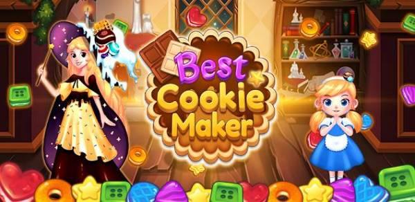 「ベストクッキーメーカー:ファンタジーマッチ3パズル」のスクリーンショット 1枚目