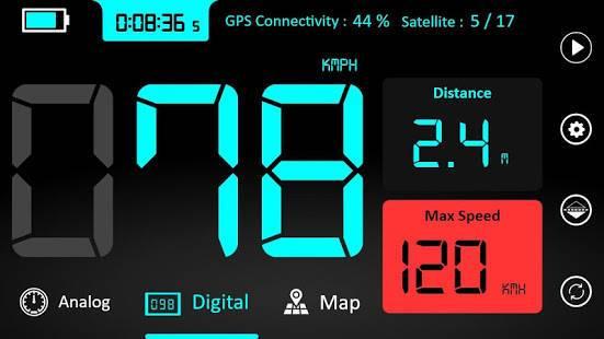 「スピードメーター : オドメーター そして 速度 トラッカー アプリ」のスクリーンショット 1枚目