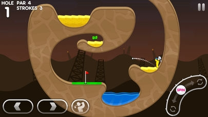 「Super Stickman Golf 3」のスクリーンショット 2枚目