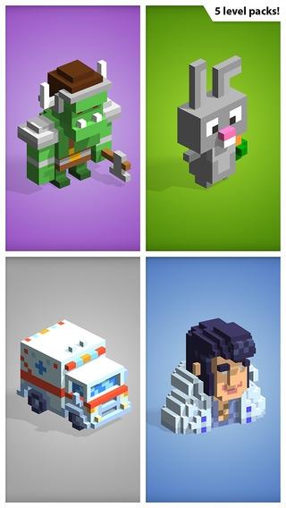 「Kubiko − 3Dピクセルのアートパズルを解こう」のスクリーンショット 3枚目