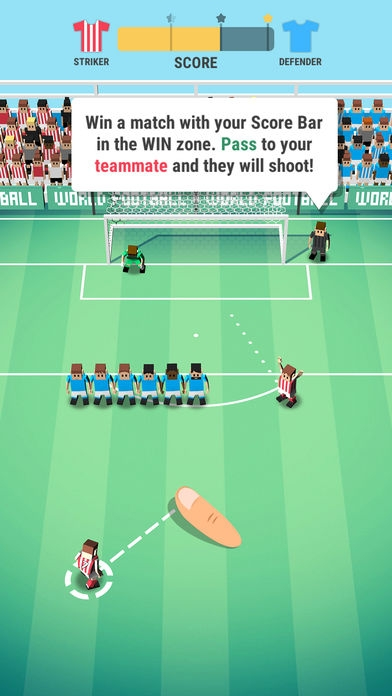 「Tiny Striker: World Football」のスクリーンショット 2枚目