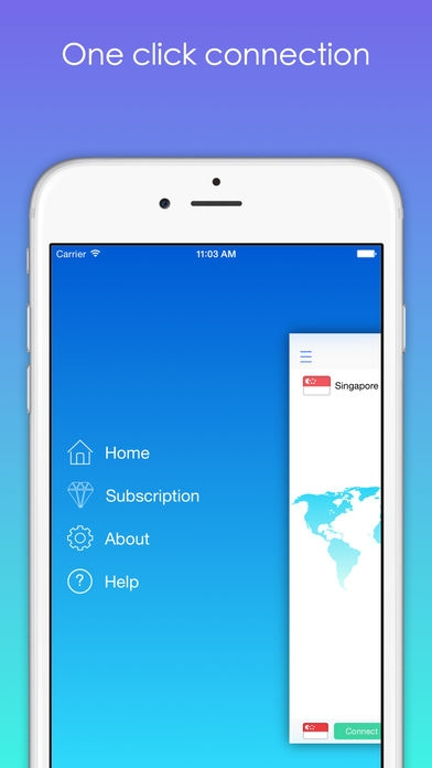 「VPN123-Free VPN,無料,国際的なブラウジング,保護,for iPhone&iPad」のスクリーンショット 3枚目